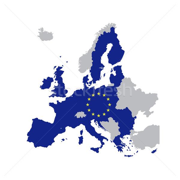 Stok fotoğraf: Avrupa · sendika · harita · Yıldız · üye · 2016