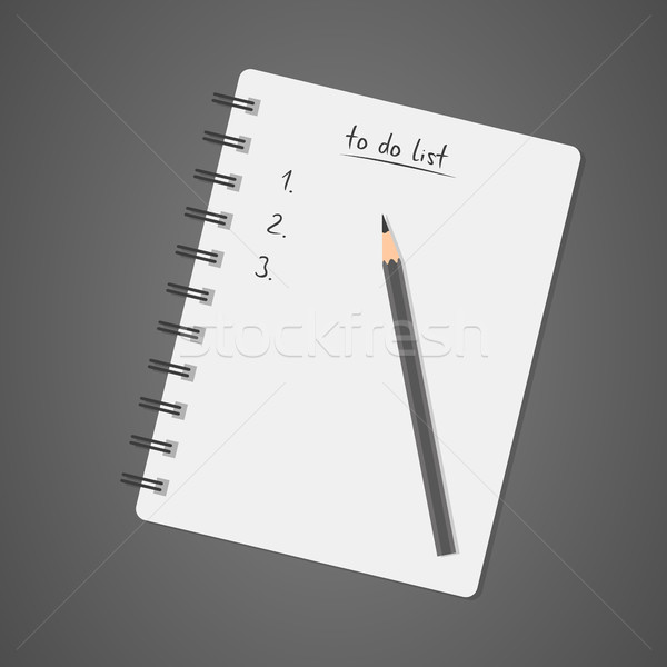 To do list witte notebook potlood dagboek controleren Stockfoto © kurkalukas