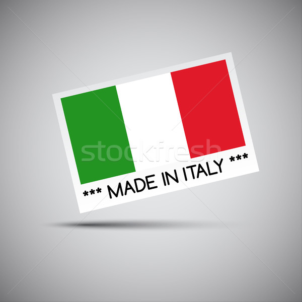 Vector card Made in Italy with Italian flag, vector illustration Stock photo © kurkalukas