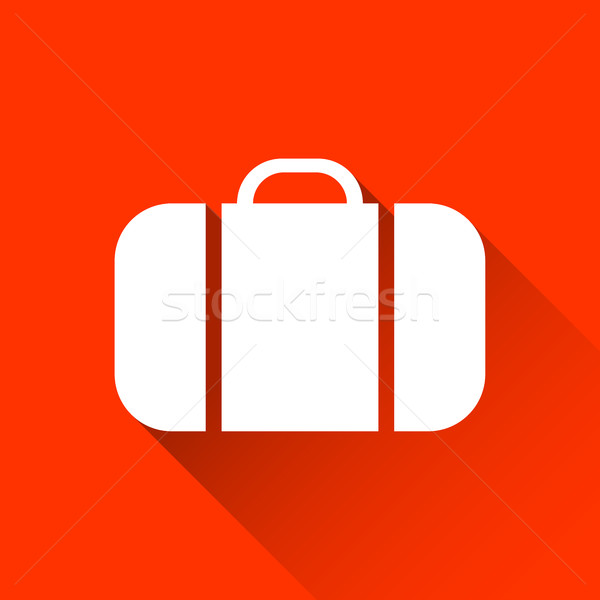 Simple suitcase icon, travel and holiday symbol, modern flat sty Stock photo © kurkalukas
