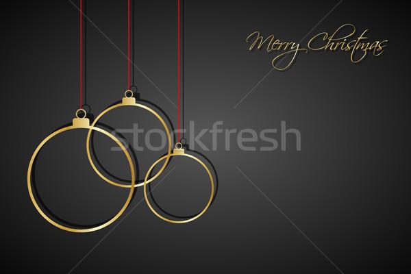 Trois or Noël rouge noir Photo stock © kurkalukas