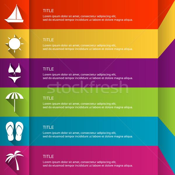 современных шаблон праздник иконки графических Сток-фото © kurkalukas