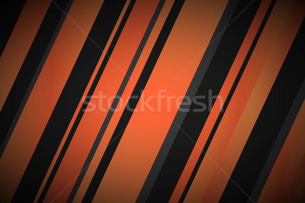 Résumé noir orange lignes affaires ciel Photo stock © kurkalukas