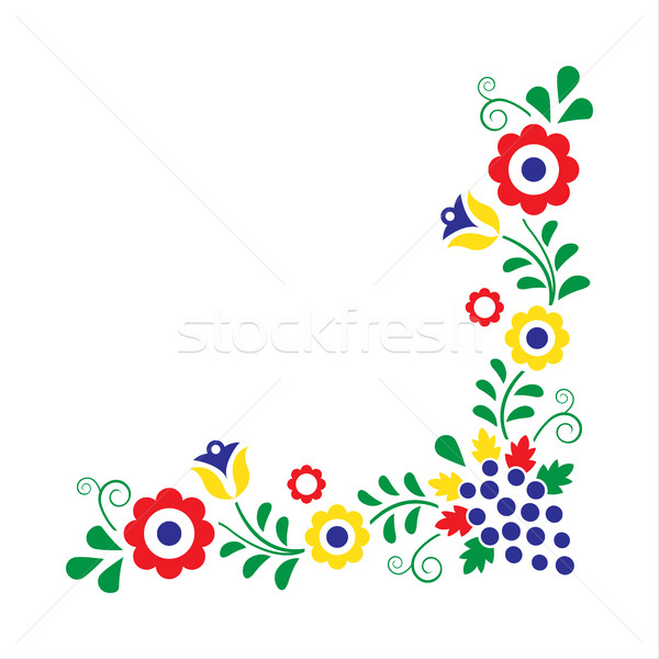 Colorido folclore ornamento isolado branco abstrato Foto stock © kurkalukas