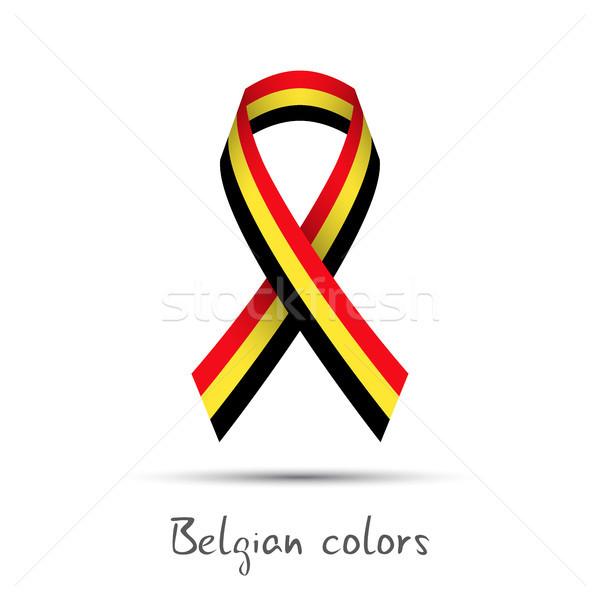 Moderna vector cinta tricolor aislado Foto stock © kurkalukas