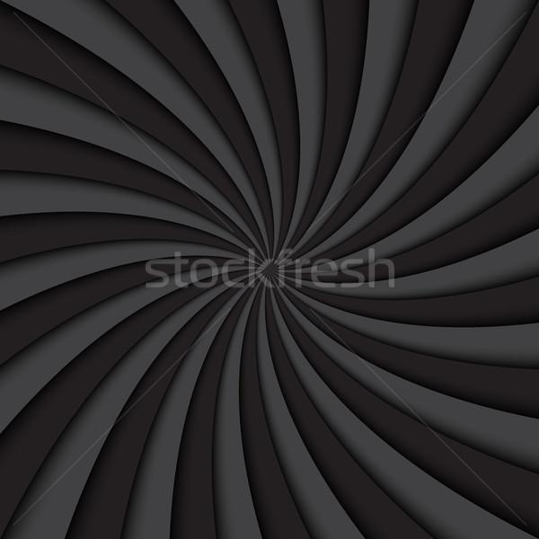 黒 メタリック 金属の質感 単純な 実例 サークル ストックフォト © kurkalukas