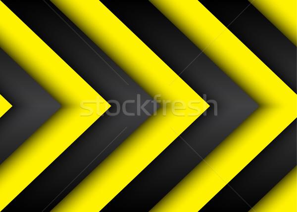 Stok fotoğraf: Soyut · vektör · modern · siyah · sarı · hatları