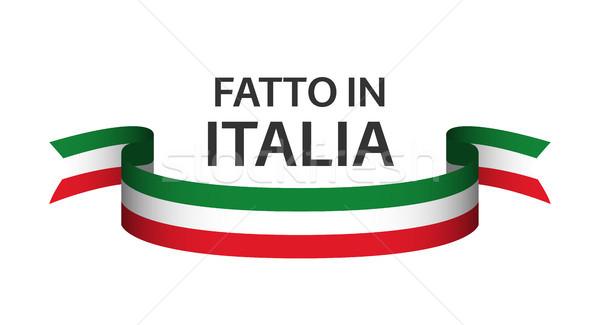 İtalya İtalyan dil renkli şerit Stok fotoğraf © kurkalukas