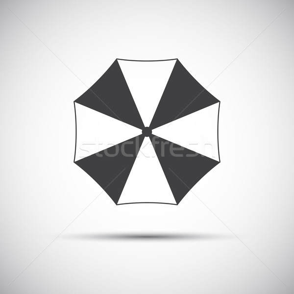 Semplice grigio ombrellone icona spiaggia sole Foto d'archivio © kurkalukas