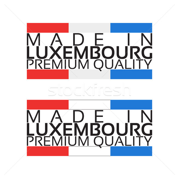 Luxemburg icon premie kwaliteit sticker kleuren Stockfoto © kurkalukas