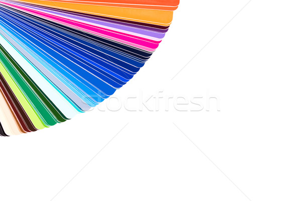 Color palette isolated on white background, color catalog Stock photo © kurkalukas