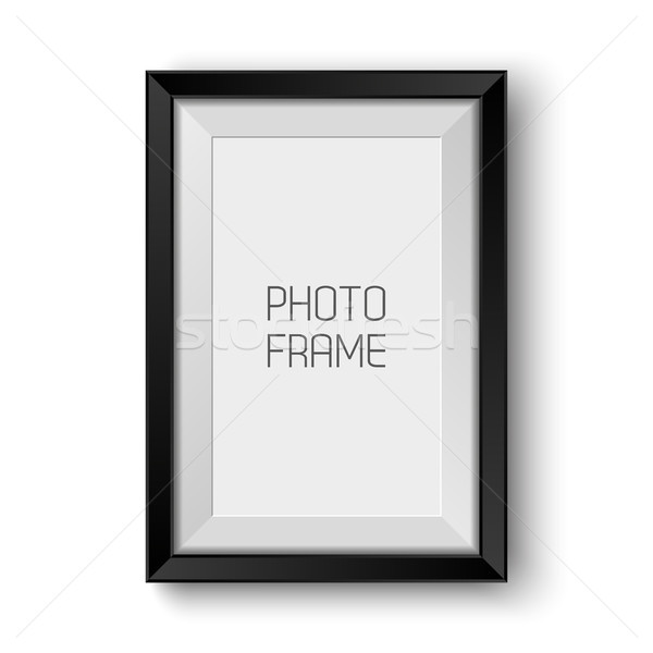 Realistic vector picture frame isolated on white background with blank space for your photo Stock photo © kurkalukas
