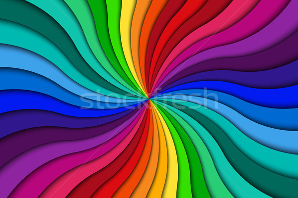 Color spiral background, bright colorful swirling radial pattern, abstract vector illustration Stock photo © kurkalukas
