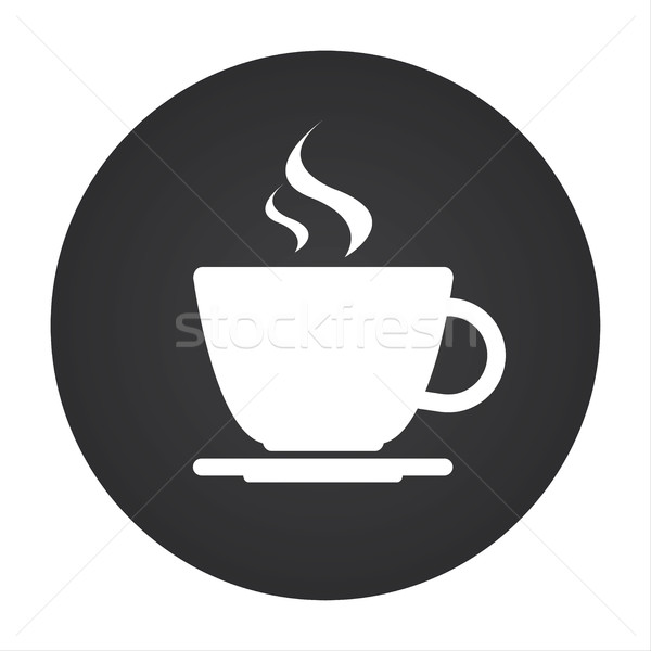 Simple round vectour icon of coffee cup Stock photo © kurkalukas