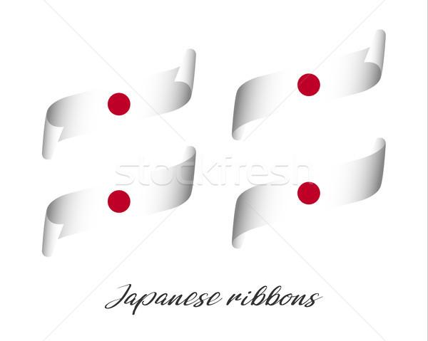Szett négy modern szín vektor szalagok Stock fotó © kurkalukas