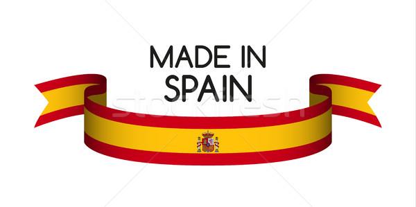 Gekleurd lint spaans kleuren symbool spaanse vlag Stockfoto © kurkalukas