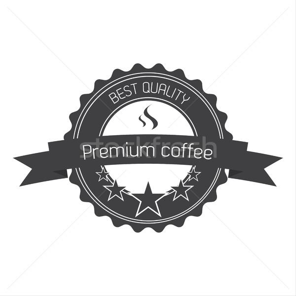 Prim kahve kalite etiket kafe oda Stok fotoğraf © kurkalukas