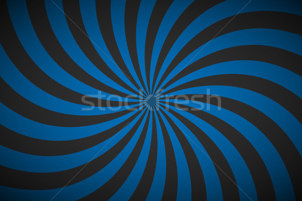 Decorative retro blue spiral background, swirling radial pattern, abstract vector illustration Stock photo © kurkalukas