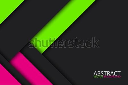 Zwarte groene roze moderne materiaal ontwerp Stockfoto © kurkalukas