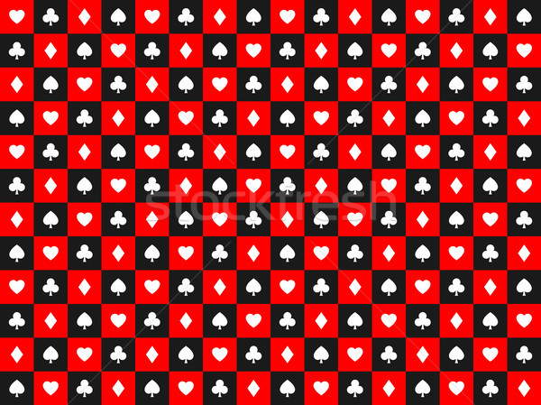 Naadloos abstract vector poker speelkaarten borden Stockfoto © kurkalukas