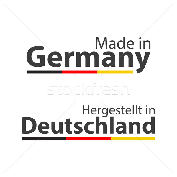 Two simple vector symbols Made in Germany, In German - Hergestellt in Deutschland, signs with the Ge Stock photo © kurkalukas