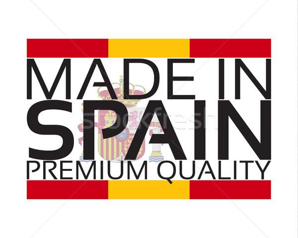 Испания икона премия качество наклейку испанский Сток-фото © kurkalukas