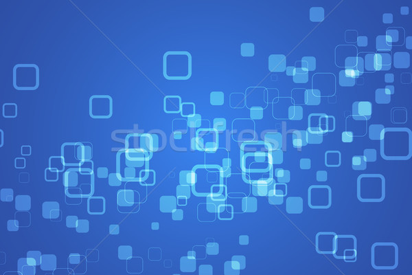 Blue abstract background with rounded rectangles with different transparency Stock photo © kurkalukas
