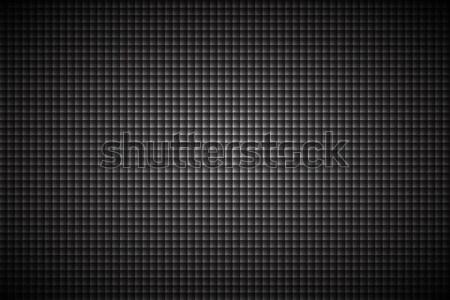 Carbon black abstract background, modern metallic look, vector illustration Stock photo © kurkalukas