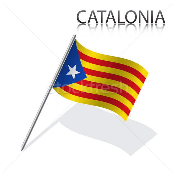 Catalan flag, Catalonia, simple vector illustration of the Catalan flag isolated on a white backgrou Stock photo © kurkalukas