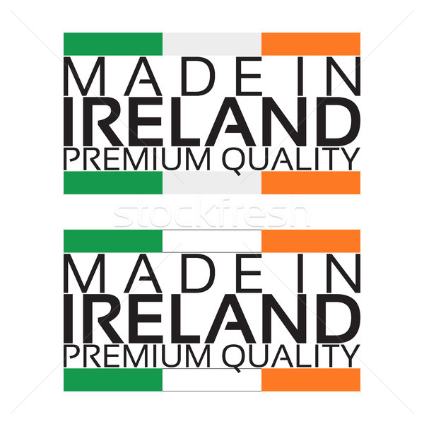 Ierland icon premie kwaliteit sticker Ierse Stockfoto © kurkalukas