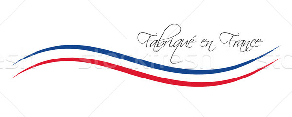 Made in France, colored vector symbol with French tricolor isolated on white background Stock photo © kurkalukas