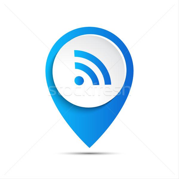 3D wektora wifi ikona Internetu Pokaż Zdjęcia stock © kurkalukas