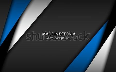 抽象的な 紙 黒 グレー 青 色 ストックフォト © kurkalukas