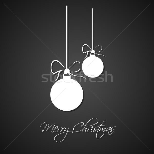 Foto d'archivio: Semplice · bianco · Natale · arco · nero