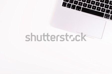 Werkruimte moderne laptop geïsoleerd witte computer Stockfoto © kurkalukas