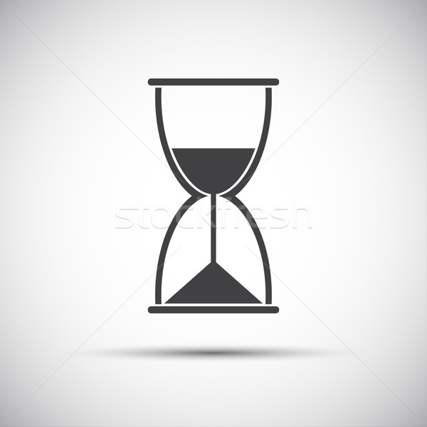 Simple vector hourglass icon Stock photo © kurkalukas