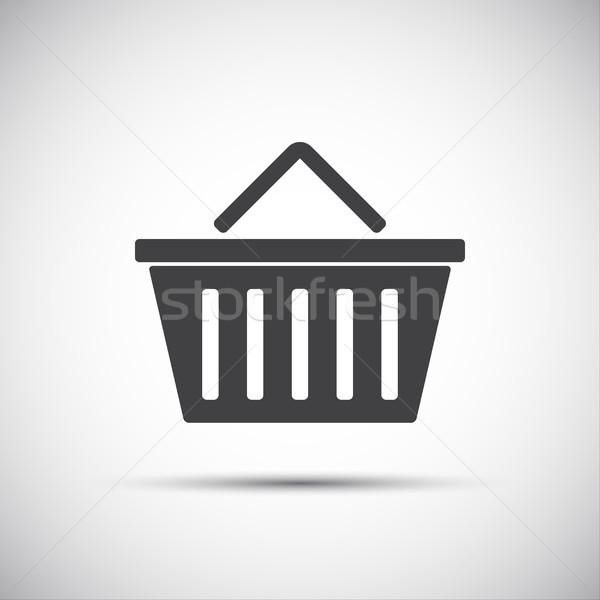 простой корзина икона бизнеса стороны интернет Сток-фото © kurkalukas