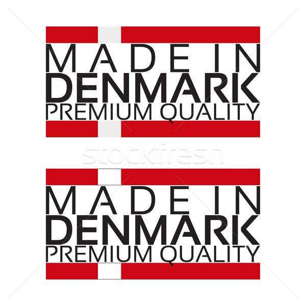 Danemark icône prime qualité vignette couleurs Photo stock © kurkalukas