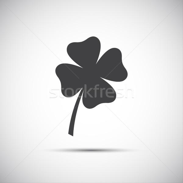 Simple icon clover leaf, four leaf clover vector illustration Stock photo © kurkalukas