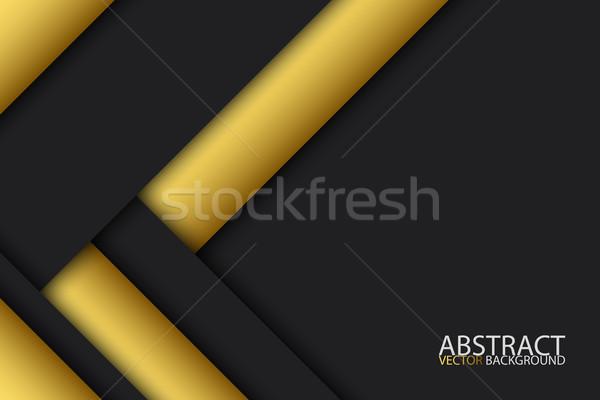 Fekete arany modern anyag terv vektor Stock fotó © kurkalukas
