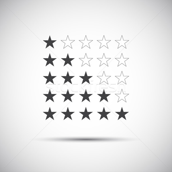 Siple illustration of five rating stars for your review Stock photo © kurkalukas