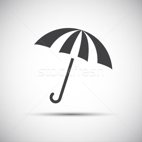 Simple vector umbrella icon, rain protection Stock photo © kurkalukas