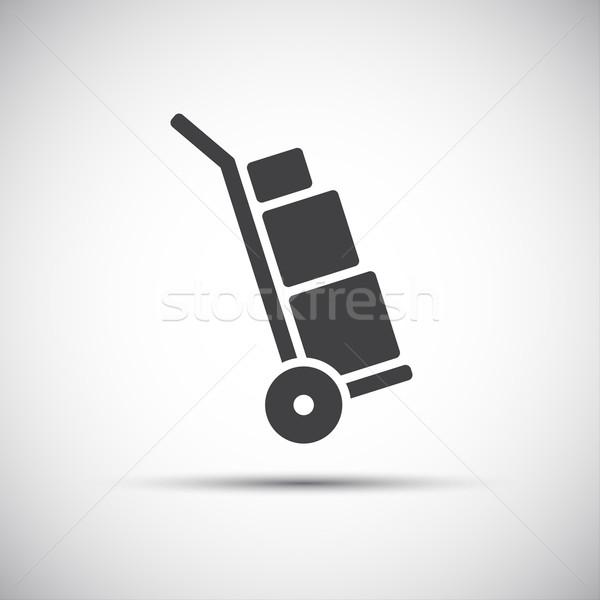 マニュアル カート アイコン 単純な 手 トラック ストックフォト © kurkalukas