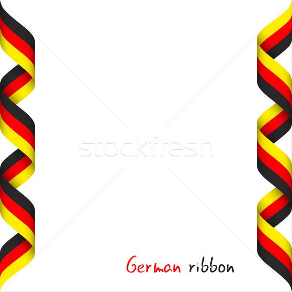 Cinta tricolor símbolo bandera aislado Foto stock © kurkalukas