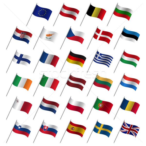 Europejski Unii kraju flagi członek eu Zdjęcia stock © kurkalukas