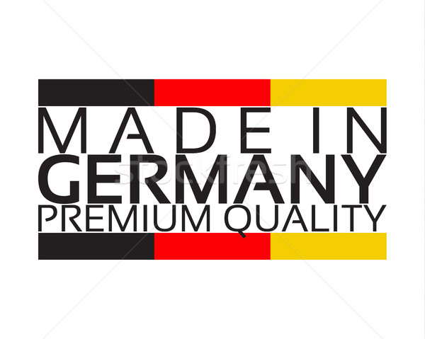 Almanya prim kalite etiket renk basit Stok fotoğraf © kurkalukas
