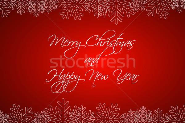 веселый Рождества с Новым годом карт Сток-фото © kurkalukas