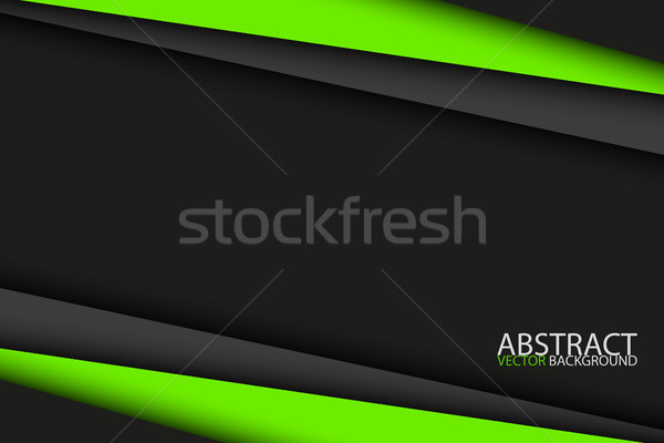 Black and green modern material design, vector abstract widescreen background Stock photo © kurkalukas