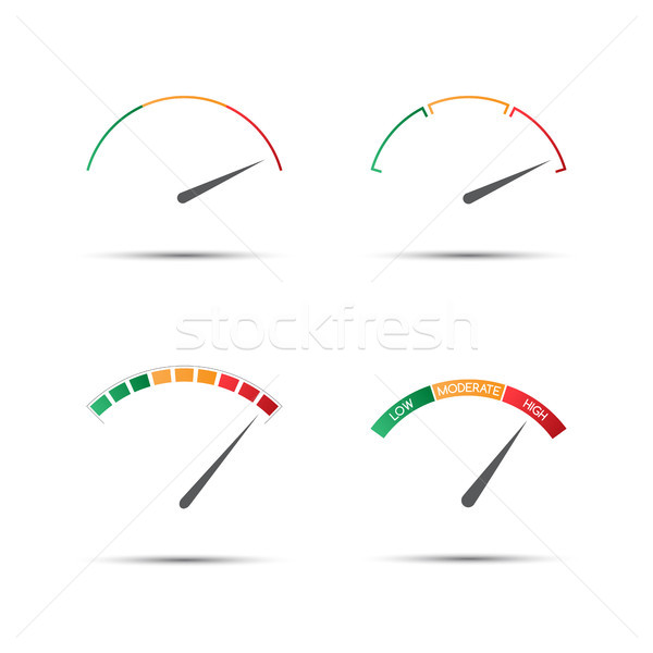 Quatre simple couleur faible élevé Photo stock © kurkalukas