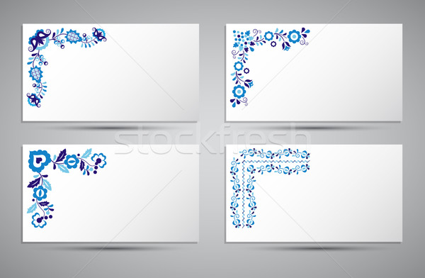 Vector card of traditional folk patterns Stock photo © kurkalukas